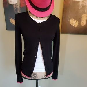 Express Black with Pink Trim Cardigan